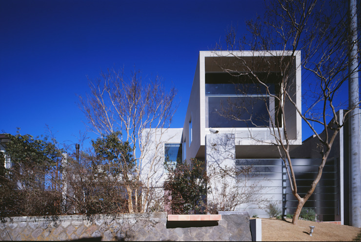FACADE | 百日紅の家 | RC造高級注文住宅 モダンな 家 の Mアーキテクツ|高級邸宅 豪邸 注文住宅 別荘建築 LUXURY HOUSES | M-architects モダン
