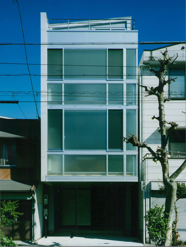 Modern houses by 原 空間工作所 HARA Urban Space Factory Modern Iron/Steel
