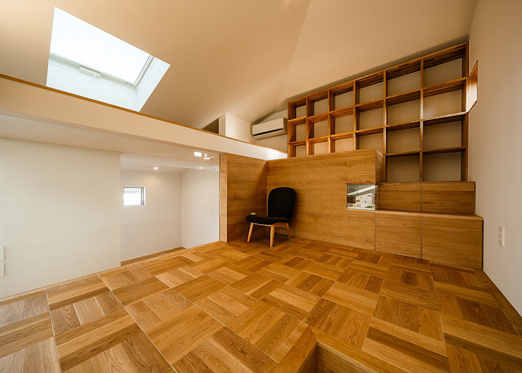 Phòng học/văn phòng phong cách Bắc Âu bởi 一級建築士事務所haus Bắc Âu