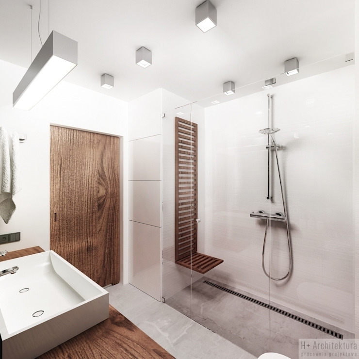 Potokowa | Wrocław Nowoczesna łazienka od H+ Architektura Nowoczesny