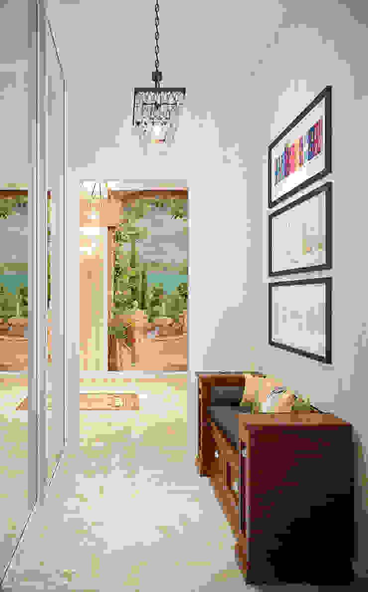 Дизайн холла в классическом стиле в частном доме по ул. Российской Коридор, прихожая и лестница в классическом стиле от Студия интерьерного дизайна happy.design Классический