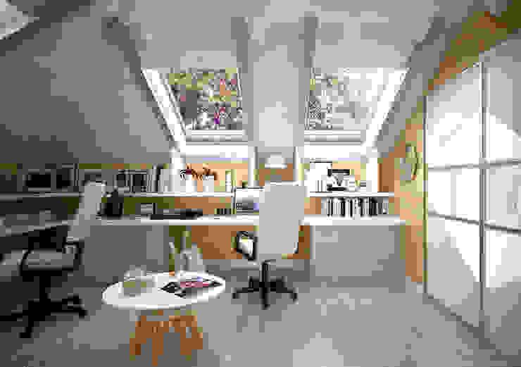Estudios y despachos de estilo mediterráneo de Студия интерьерного дизайна happy.design Mediterráneo