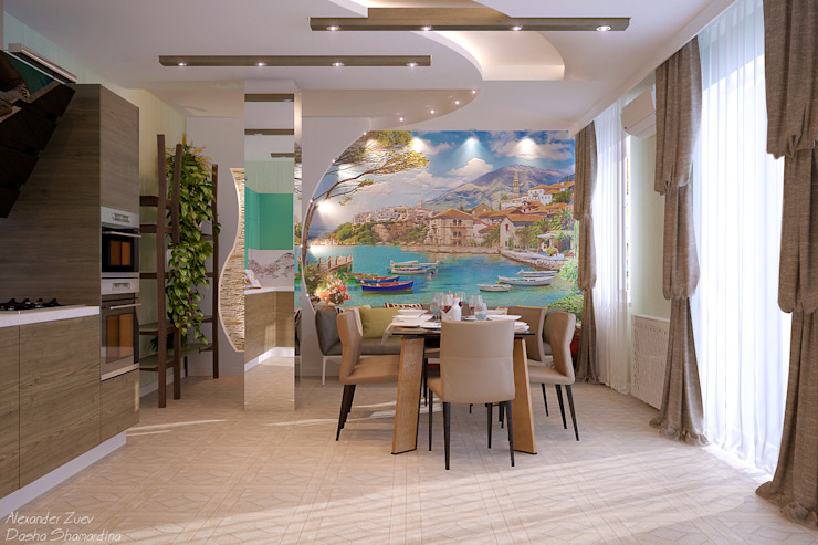 by Студия интерьерного дизайна happy.design Mediterranean