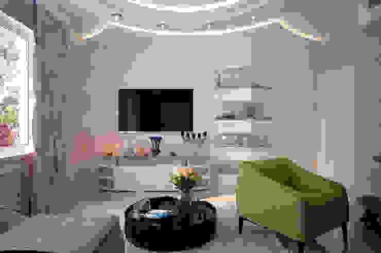 Salas de estar modernas por Студия интерьерного дизайна happy.design Moderno