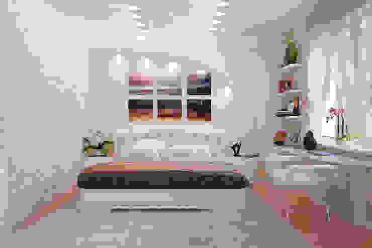 Cuartos de estilo moderno de Студия интерьерного дизайна happy.design Moderno