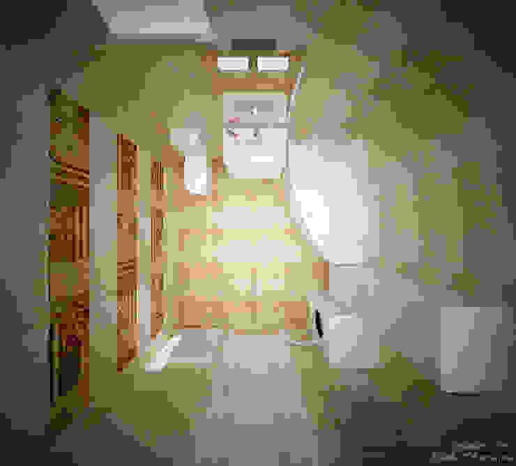 Дизайн санузла в современном стиле в частном доме по ул.Российской Ванная комната в стиле модерн от Студия интерьерного дизайна happy.design Модерн
