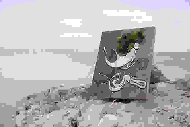 Le poulpe par Mousse Graffiti Éclectique Bois Effet bois