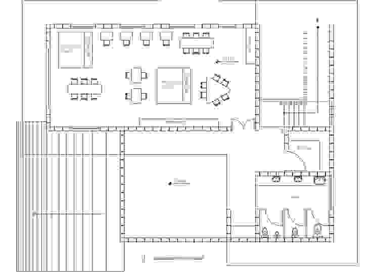 Planta 2 de Komoni Arquitectos Rústico