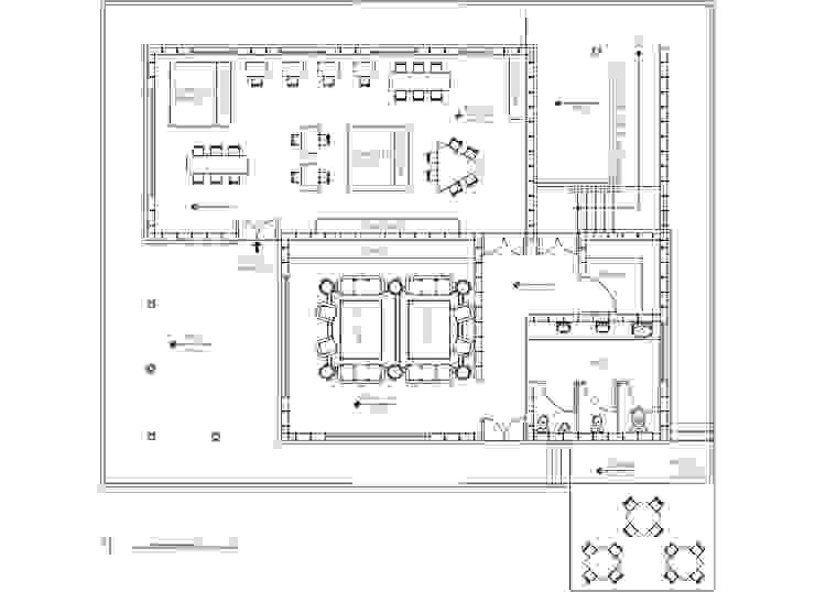 Planta 1 de Komoni Arquitectos Rústico