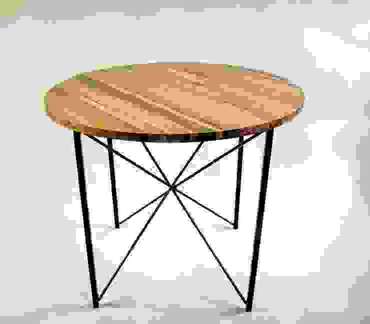 "Stół kuchenny ze stali i dębu ""COPENHAGEN"" od NordLoft - Industrial Design Skandynawski"