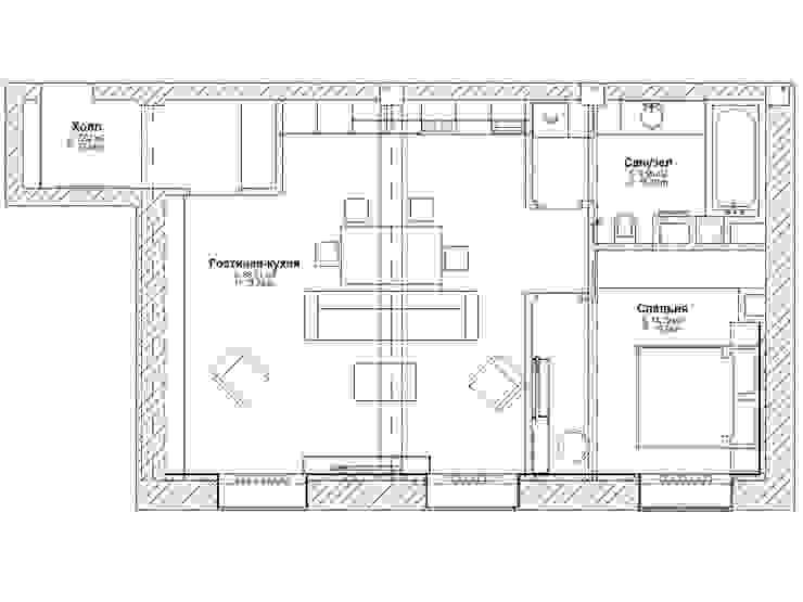 Квартира в стиле лофт от студия Дизайн Квадрат Лофт