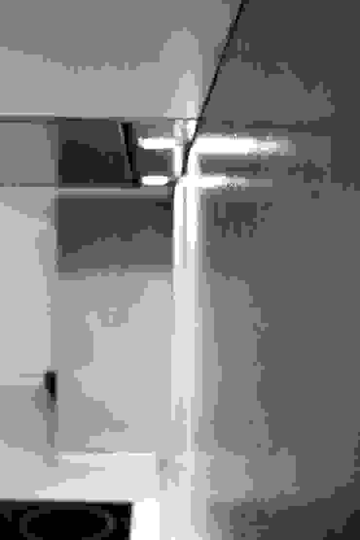 кухня, бетонный фартук от студия Дизайн Квадрат Лофт