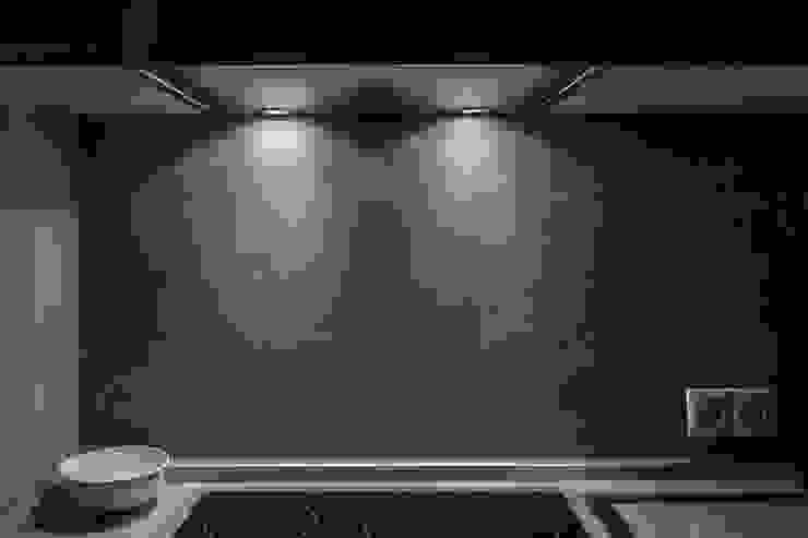 кухня лофт, бетонный фартук от студия Дизайн Квадрат Лофт