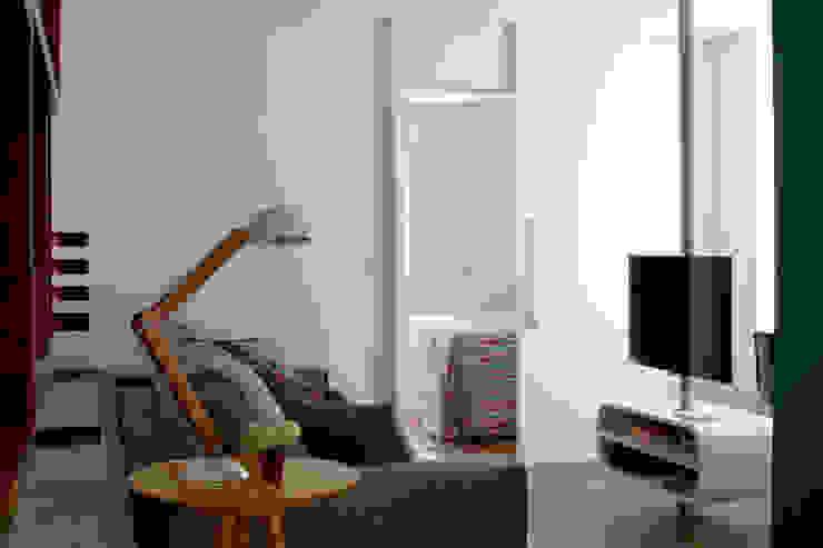 Espaços integrados 1 verso arquitetura Salas de estar modernas