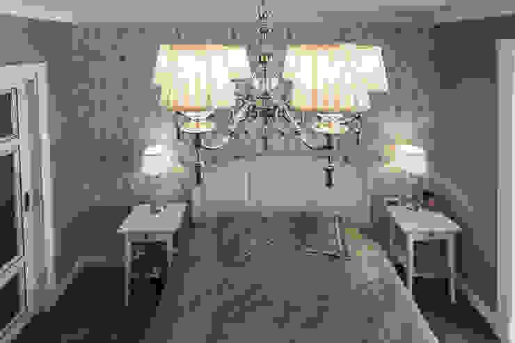 Спальня в американском стиле, люстра. от студия Дизайн Квадрат Классический