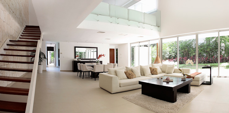 Гостиная в стиле модерн от Enrique Cabrera Arquitecto Модерн