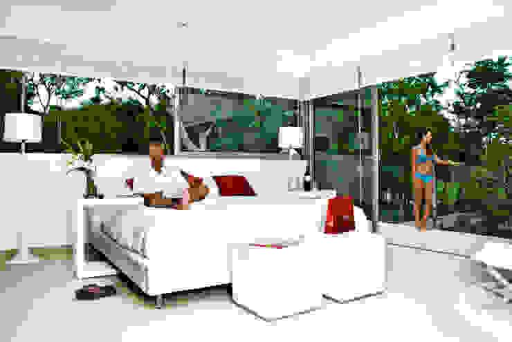 Casa entre Arboles Dormitorios modernos de Enrique Cabrera Arquitecto Moderno