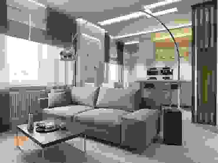 غرفة المعيشة تنفيذ Студия Павла Полынова, تبسيطي