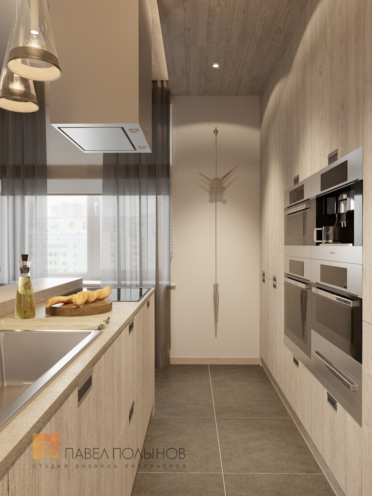 Кухня-гостиная Кухня в стиле минимализм от Студия Павла Полынова Минимализм