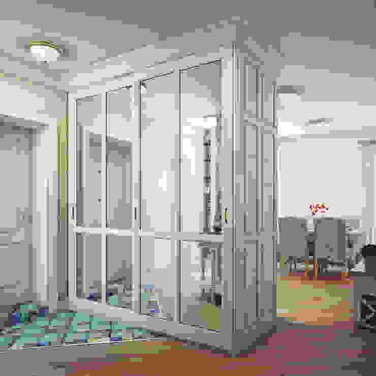 Дизайн-проект 4-х комнатной квартиры, г. Москва Коридор, прихожая и лестница в стиле кантри от Анна Теклюк Кантри