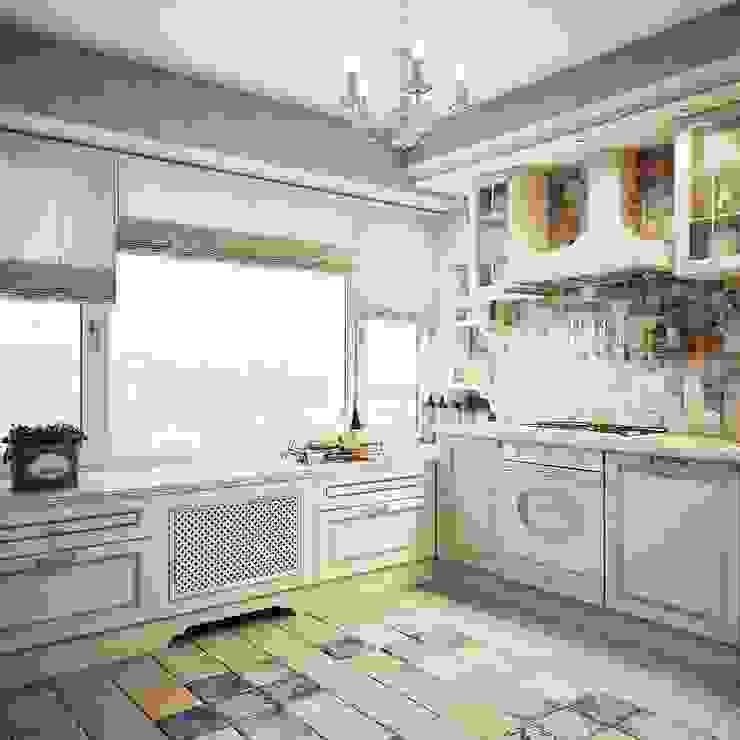 Дизайн-проект 4-х комнатной квартиры, г. Москва Кухня в стиле кантри от Анна Теклюк Кантри