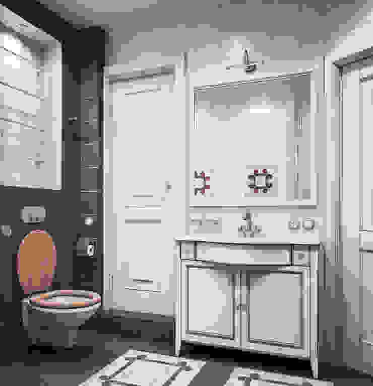 Дизайн-проект 4-х комнатной квартиры, г. Москва Ванная комната в стиле кантри от Анна Теклюк Кантри