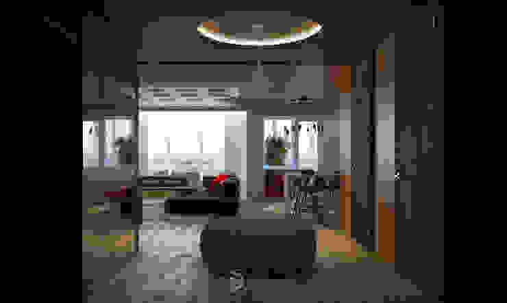 Квартира в Броварах 2 Гостиные в эклектичном стиле от 27Unit design buro Эклектичный