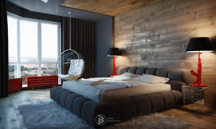 Eclectic style bedroom by 27Unit design buro Eclectic