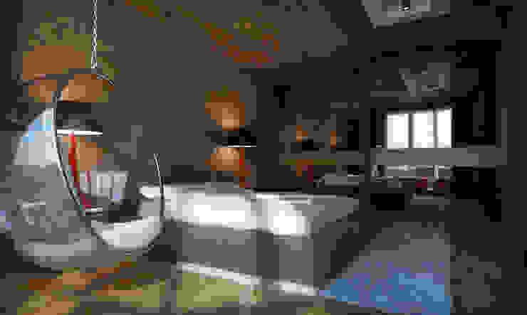 Квартира в Броварах 2 Спальня в эклектичном стиле от 27Unit design buro Эклектичный