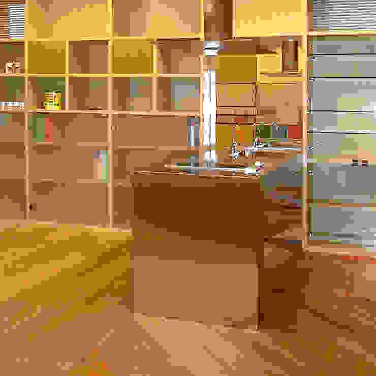 Cocinas de estilo  por ユミラ建築設計室, Moderno