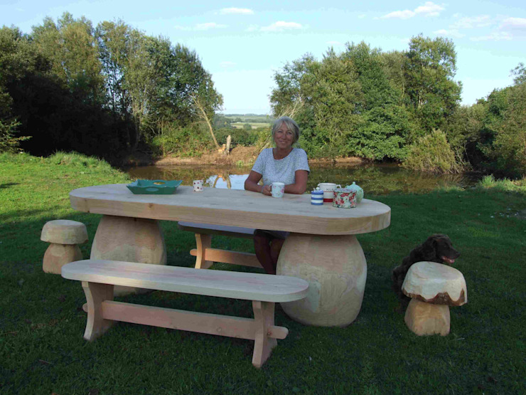 outdoor table de Forest Crafts Ltd Rústico