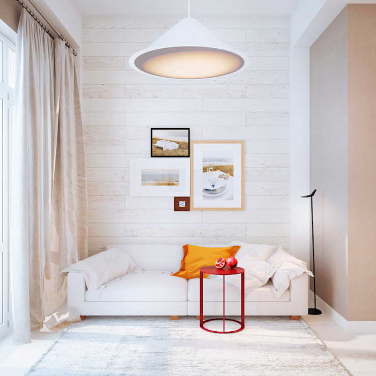 Дизайн интерьера объединенной квартиры в ЖК «Арабская ночь» (Алупка) ROMM Столовая комната в стиле модерн