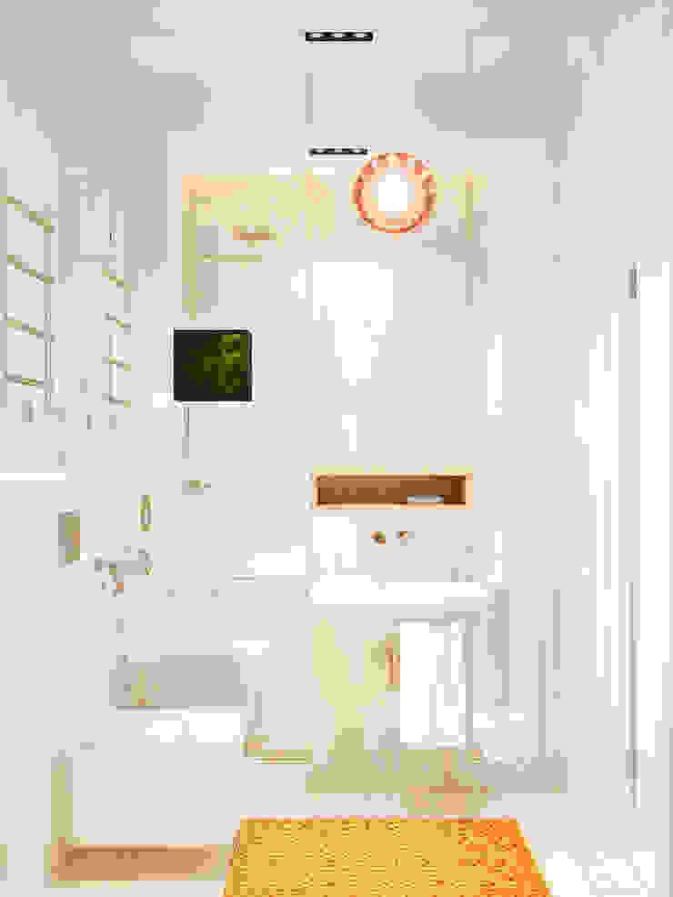 Дизайн интерьера объединенной квартиры в ЖК «Арабская ночь» (Алупка) ROMM Ванная комната в стиле модерн