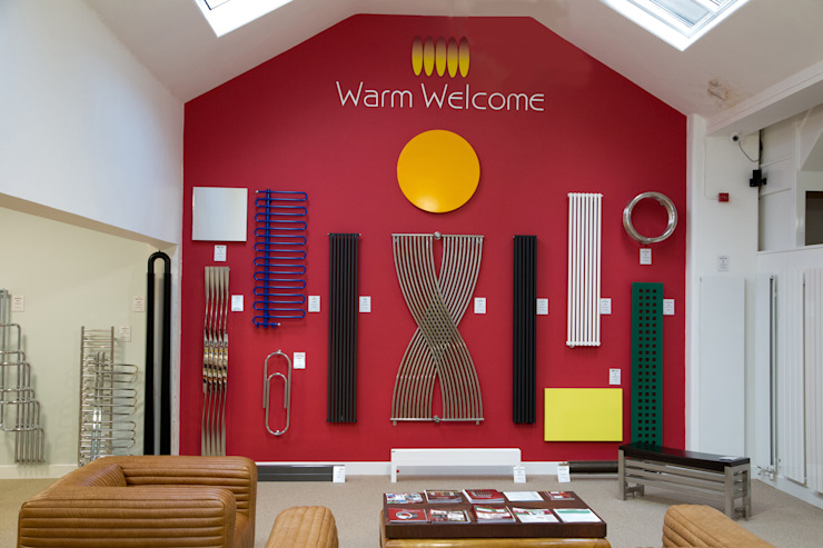A warm welcome Feature Radiators Ruang Komersial Modern