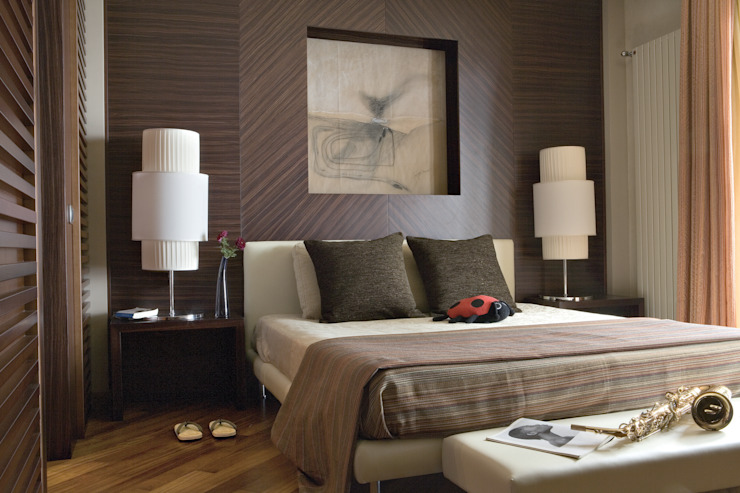 Camera da letto di PDV studio di progettazione Moderno