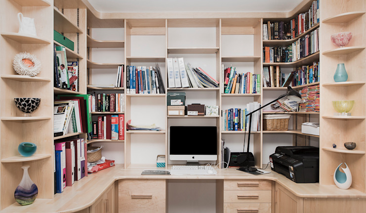 Home office/study Escritórios modernos por Worsley Woodworking Moderno