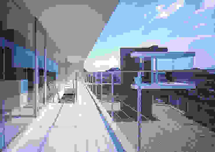 中山の住宅 モダンデザインの テラス の アトリエ環 建築設計事務所 モダン