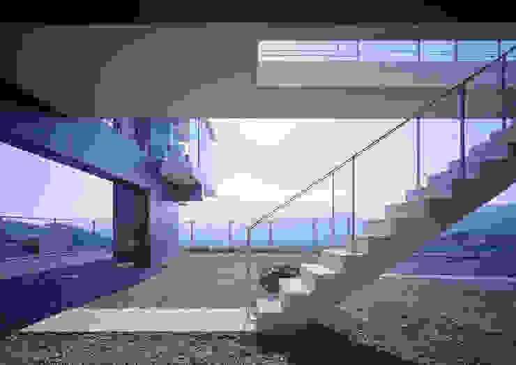 中山の住宅 モダンスタイルの 玄関&廊下&階段 の アトリエ環 建築設計事務所 モダン