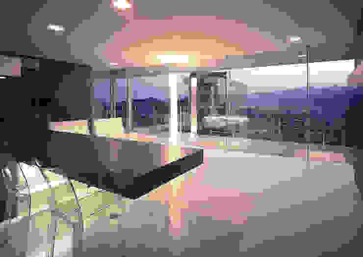 中山の住宅 モダンデザインの ダイニング の アトリエ環 建築設計事務所 モダン