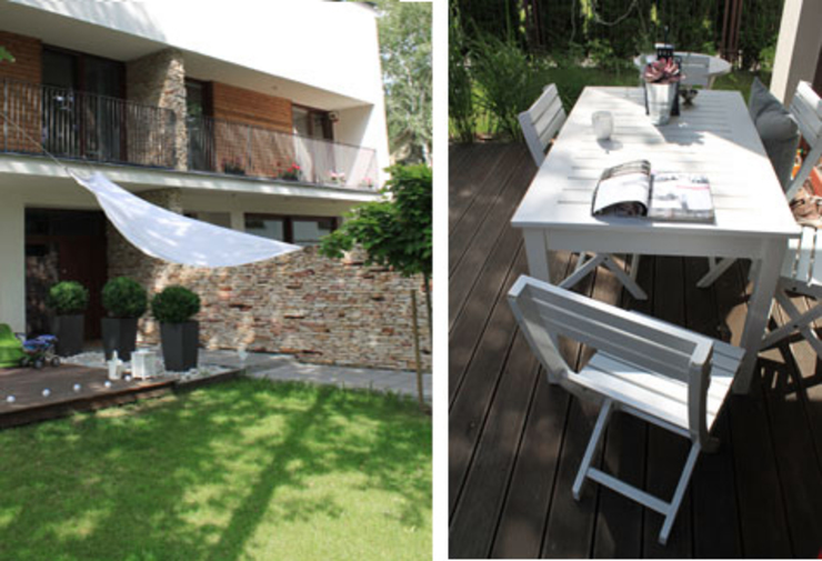 Moderne balkons, veranda's en terrassen van MK-ARCHITEKCI Modern