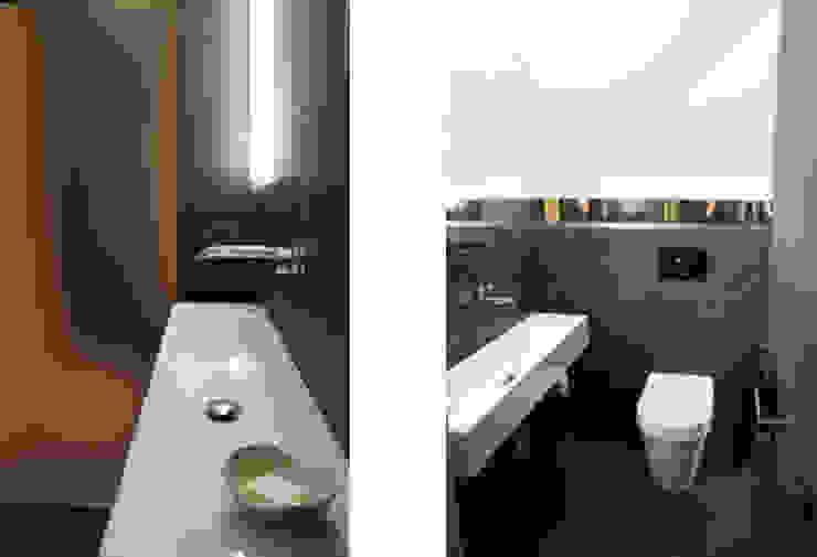 Projekt wnętrza domu w Krakowie Nowoczesna łazienka od MK-ARCHITEKCI Nowoczesny