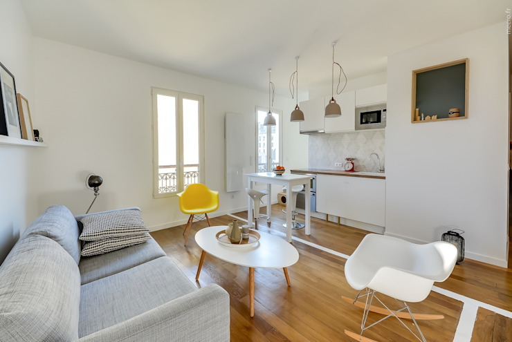 Appartement parisien Salon minimaliste par Meero Minimaliste