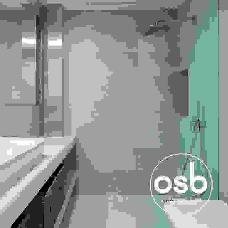 Baño principal Baños de estilo moderno de osb arquitectos Moderno