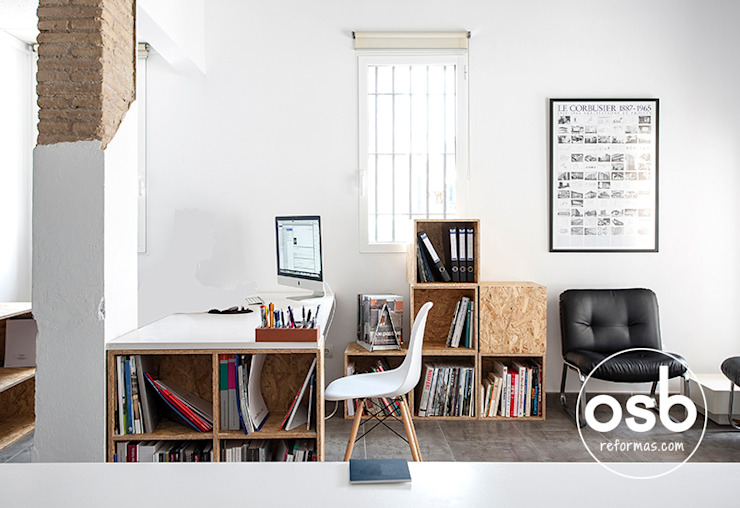 Modern Study Room and Home Office by osb arquitectos Modern