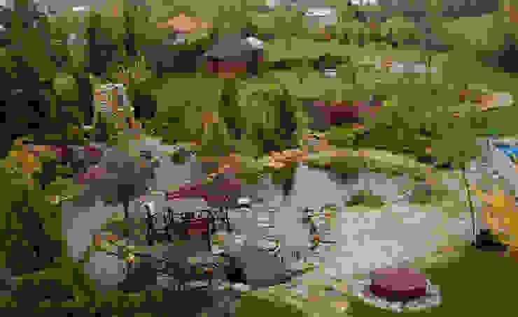 Wiosna na wyspie Klasyczny ogród od Centrum ogrodnicze Ogrody ResGal Klasyczny