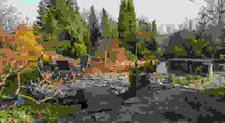 Wyspa wczesną wiosną Klasyczny ogród od Centrum ogrodnicze Ogrody ResGal Klasyczny