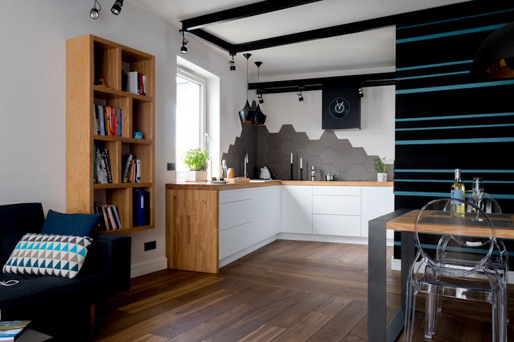 Cocinas modernas de Jacek Tryc-wnętrza Moderno