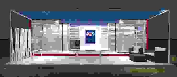 Fronte Negozi & Locali commerciali in stile industrial di Studio Arch. Matteo Calvi Industrial