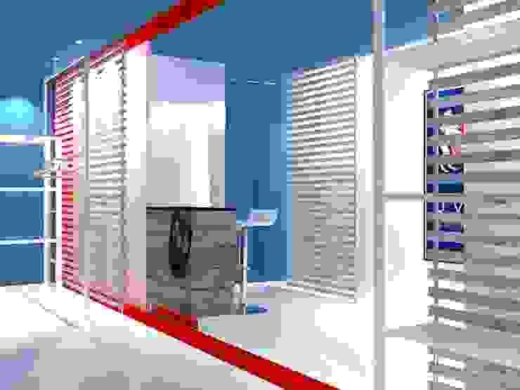 Vista interna 01 Negozi & Locali commerciali in stile industrial di Studio Arch. Matteo Calvi Industrial