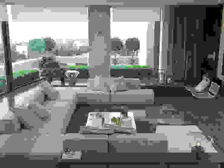 Phòng khách phong cách Địa Trung Hải bởi AShel Địa Trung Hải